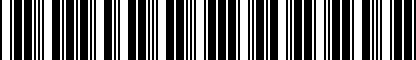 Barcode for 4L0071215