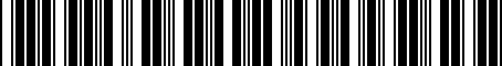 Barcode for 8R0063827G
