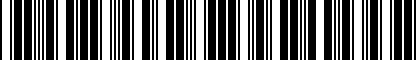 Barcode for NPN071061